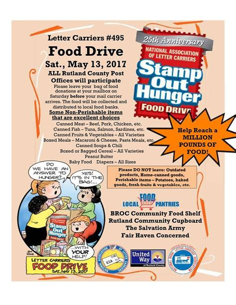 Letter Carriers Food Drive letter carriers food drive food ideas