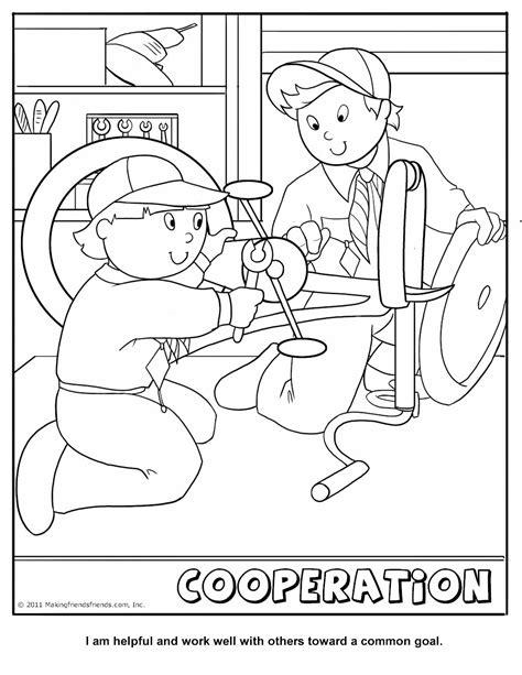 Cub Scouts Coloring Pages cub scout cooperation coloring page