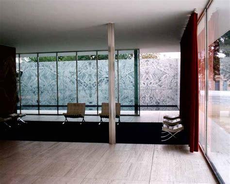 Luxurious Interior Barcelona Pavilion Mies Van Der Rohe Building E Architect