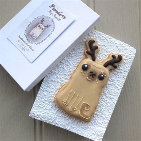 reindeer pug reindeer pug by eat my cake notonthehighstreet