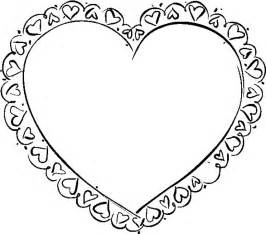 coloring page of hearts az coloring pages