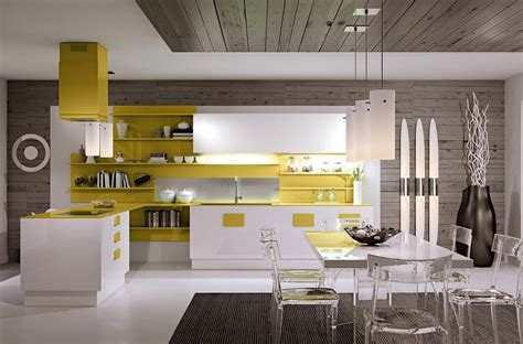 yellow kitchen accents gorgeously minimal kitchens with organization