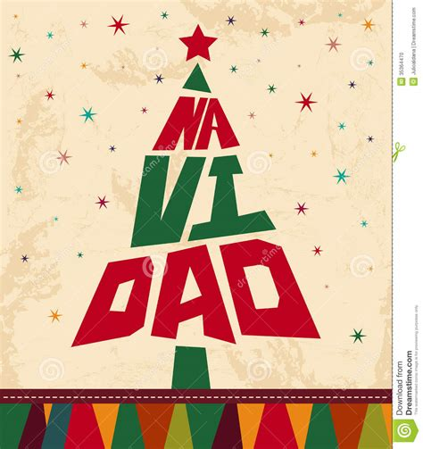navidad christmas spanish text stock photo image