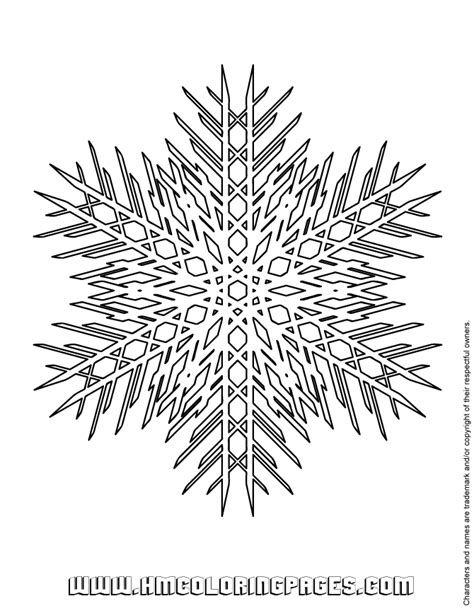 advanced snowflake coloring pages advanced snowflake coloring page h m coloring pages