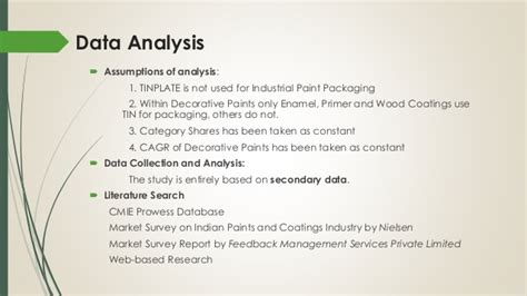 Mba Data Analytics Australia by Analysis Of Paint Industry Modes Of Packaging And Usage