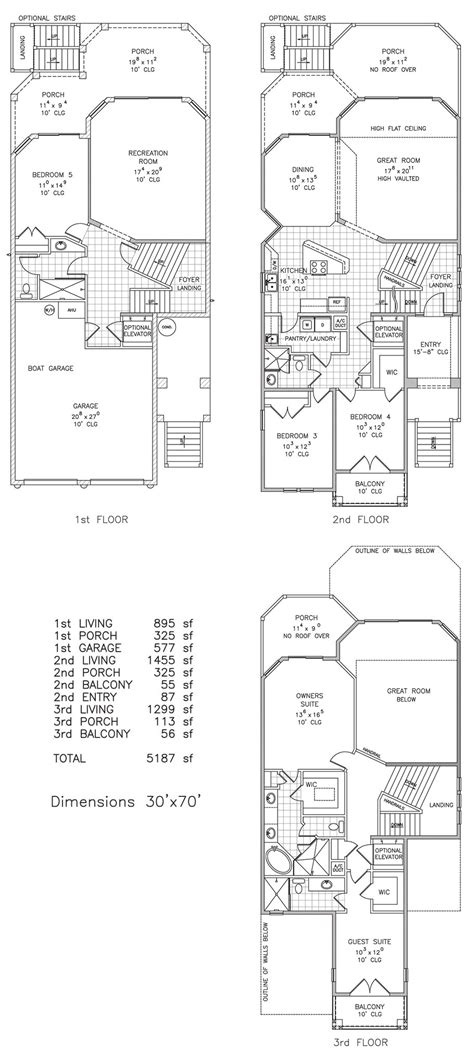 shore line captains beachfront floor plan palm