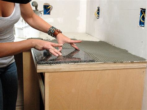 How To Install A Granite Tile Kitchen Countertop How Tos Diy Kitchen Countertops