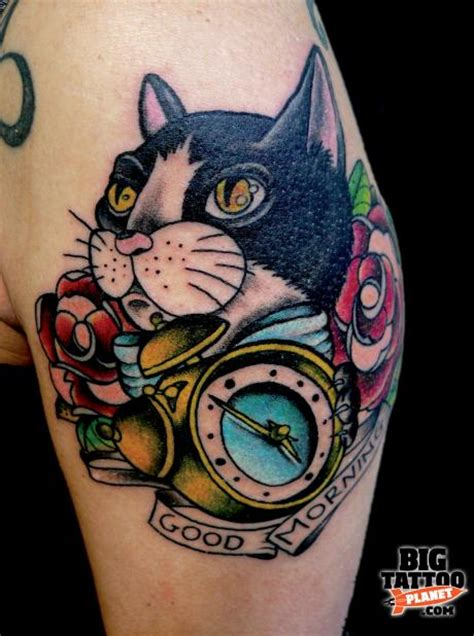 Wild Cherry Samez Colour Tattoo Big Tattoo Planet School Cat Tattoos