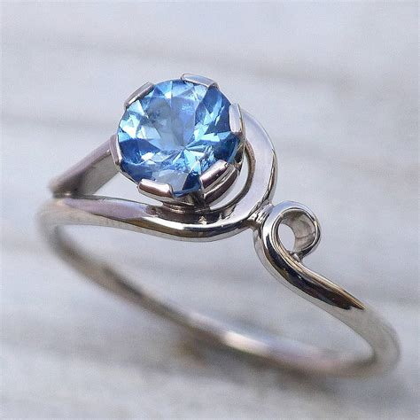 Aquamarine Rings by Aquamarine Ring In 18ct Gold By Lilia Nash Jewellery