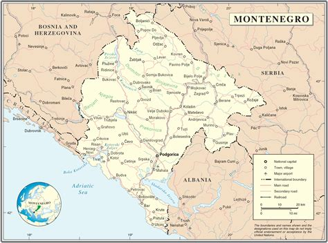 a map montenegro map map of montenegro montenegro map in
