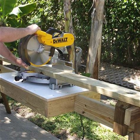 jvk woodwork portable miter saw stand free woodworking plans