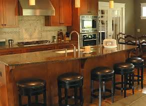 Kitchen Islands Stools by Setting Up A Kitchen Island With Seating