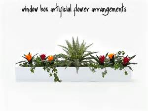Artificial Plants For Window Boxes - window box artificial flower arrangements window boxes windowbox com