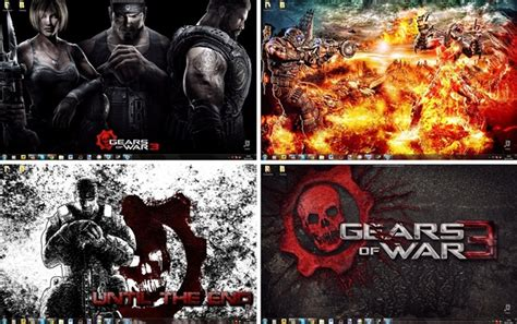god of war 3 windows theme sounds icons cursors gears of war 3 windows 7 theme icons cursors sounds download