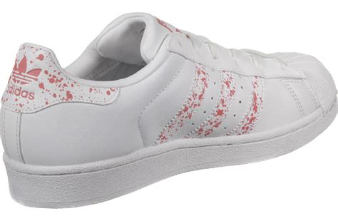 adidas superstar w shoes white pink weare shop