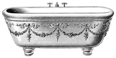 bathtub art old fashioned bathtub clipart bath tub