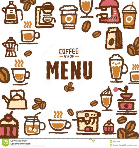 Menu For Cafe And Coffee Shop Stock Vector   Image: 53623958