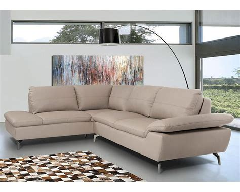 contemporary grey sofa contemporary sectional sofa in grey leather 44l5990