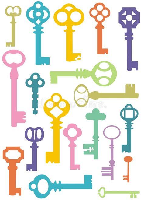 download key pattern key pattern stock vector illustration of objects shape