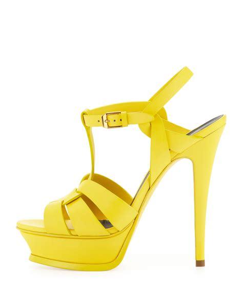 yellow high heels sandals neon yellow high heel sandals is heel