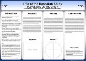 poster presentation template free powerpoint scientific research poster templates for