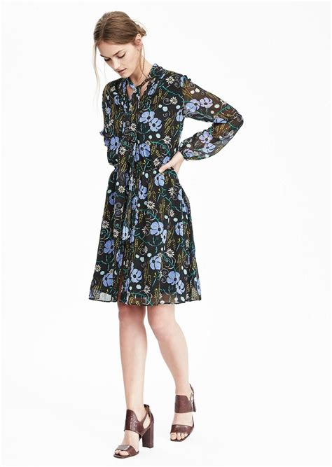 banana republic floral tie neck dress dresses shop it