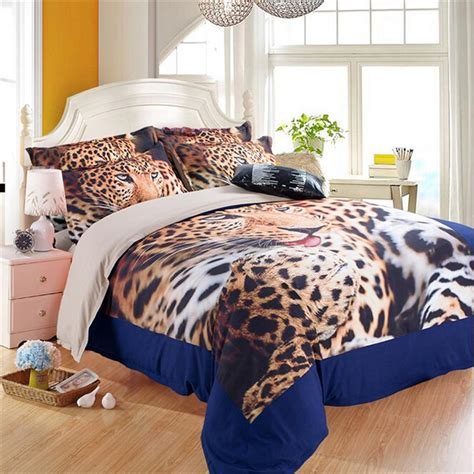 popular leopard print bedding king size buy cheap leopard