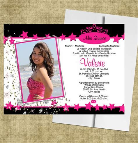 Sponsor Letter For Quinceanera Quinceanera Invitations Http Www Eventphotocards En Quinceanera Invitations