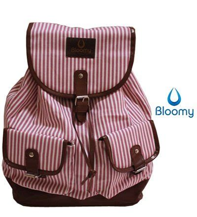 Tas Pungggung Canvas Backpack Tas Sekolah ransel bloomy rucksack tas sekolah tas kuliah