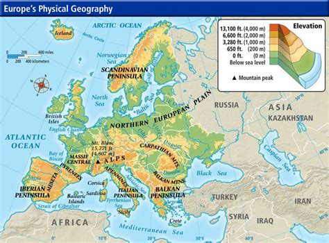 geography of europe map week 7 europe physical map jpg 865 215 640 pixels answers to