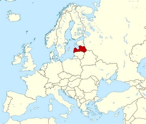 where is latvia on a map large detailed location map of latvia latvia large