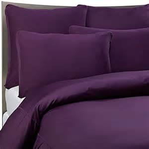 sheex 174 performance bedding duvet cover set in plum www bedbathandbeyond com
