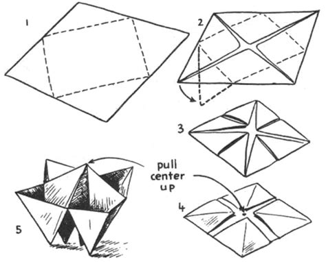 Paper Folding Template - origami boxes how to fold origami paper boxes paper