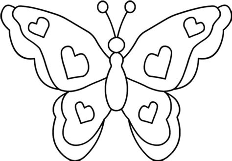 simple coloring pages of butterflies simple butterfly coloring pages clipart best