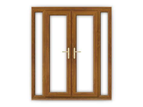 4ft doors upvc 4ft golden oak upvc doors with narrow side panels