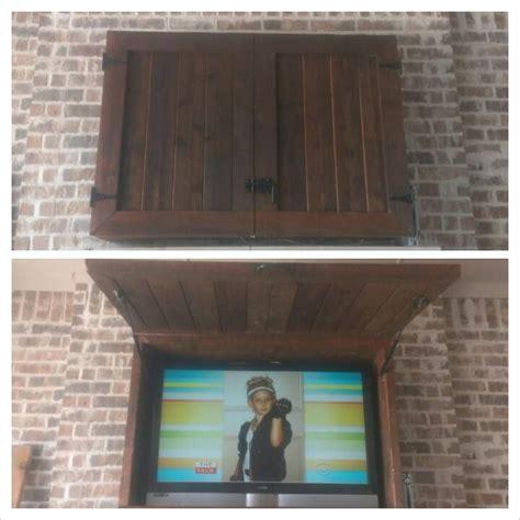 diy outdoor tv cabinet custom outdoor tv cabinets diy