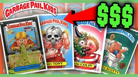 rarest and most expensive garbage pail kids cards ever made garbage pail kids cards worth money most valuable cards
