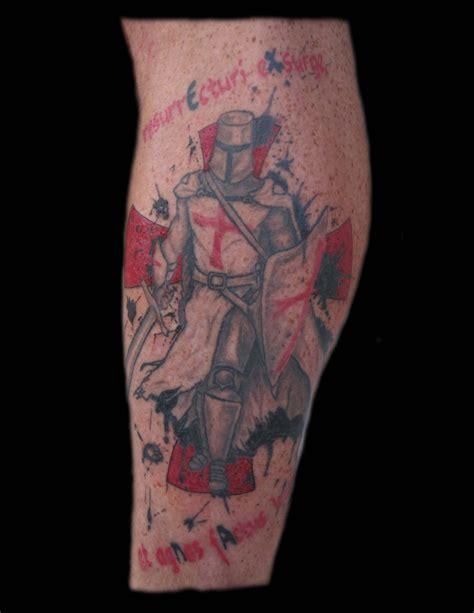 templar cross tattoos templar leg cross quot rise till