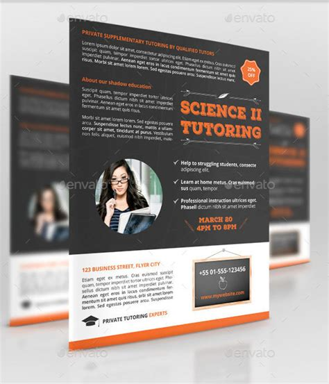 tutoring flyer templates  psd vector eps
