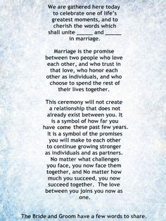 Wedding Ceremony Without Officiant by And Sweet The Wedding Ceremony Script