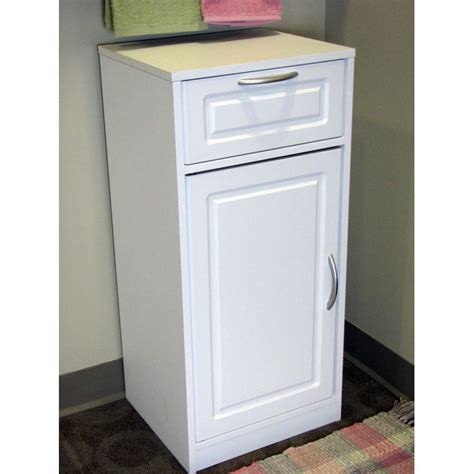 bathroom storage cabinet white 1 door 1 drawer dcg