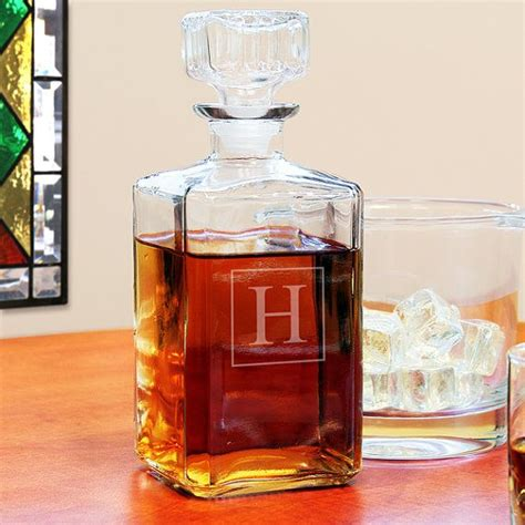 customized barware personalized glass whiskey decanter engraved barware