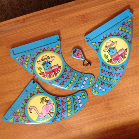 Handmade Surfboard Fins - painted surfboard fins custom painted fcs thruster fins