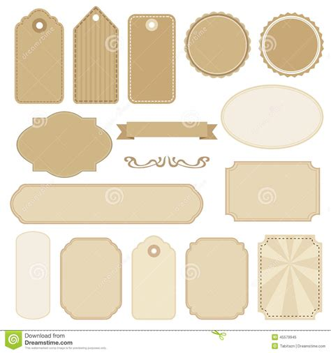 set of blank vintage frames tags and labels s stock