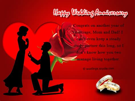 Wedding Anniversary Wishes Parents by Wedding Anniversary Messages For Parents Wordings And