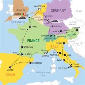 Paris Map Europe by Great European Trafalgar London London