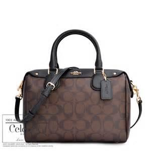 Jual Tas Coach Signature Mini Bennet Brown Black Origin Diskon coach mini satchel in signature brown