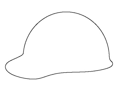 printable hard hat template