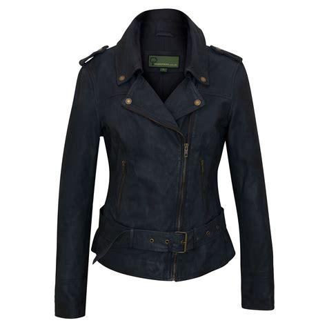 Navy Blue Leather by Zoe Navy Blue Leather Biker Jacket Hidepark
