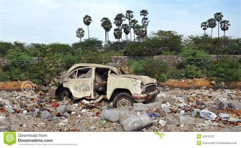Car Dump Yards by Wreck Car On The Dump Garbage Stock Image Image